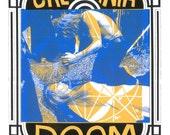 Ritual Doom CALIFORNIA DOOM Art Print by Print Mafia®