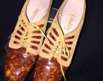 Vintage Vitality Tortoise and Suede Shoes