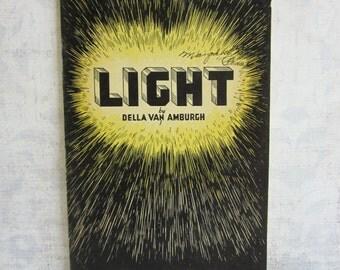 SALE Vintage Unit Study Booklet - Light by Della Van Amburgh 1934
