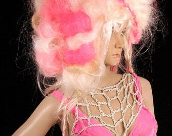 Hot Pink Lace Bra, layer bralette, warrior top, summer festival top, bohemian style halter bra, camisole bra