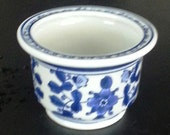 Blue and White Vase or Planter  Perfect for a Wedding