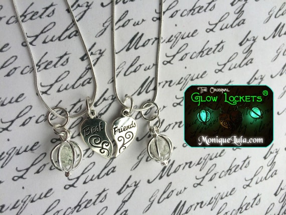 Best Friends Glowing Orb Necklace with Free UV Light Charger