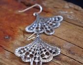 Lace Earrings Dangle Earrings Romantic Bridal Jewelry Gifts for her Romantic Bohemian Boho Chic