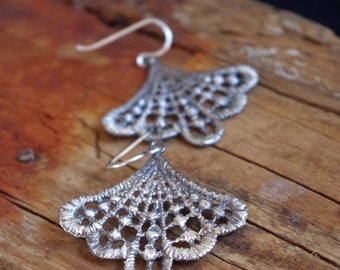 Lace Earrings Dangle Earrings Romantic Bridal Jewelry Gifts for her Romantic Bohemian Boho Chic