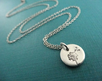 Dandelion Necklace - Nature Inspired Jewelry - Wish - Small Dandelion Charm