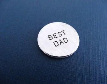 Best Dad Golf Ball Marker - Best Dad - Keepsake Token - Custom Golf Ball Marker
