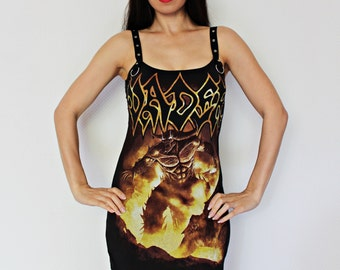 Vader shirt death heavy Metal dress alternative clothing reconstructed apparel altered band tee t-shirt dark style rocker chic clothes