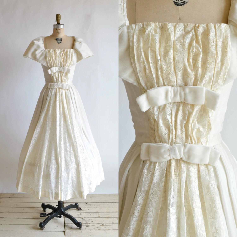 1950s wedding dress vintage tea length wedding dress for 1950s tea length wedding dress