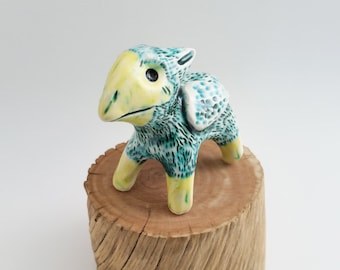 Ceramic Gryphon Sculpture Figurine