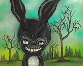 Frank The Bunny Art Print Creepy Rabbit Donnie Darko Wall Art
