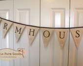 Prairie Farmhouse Chic Banner pennant coffee stained rustic decor ECS,svfteam RDT,FFFOFG
