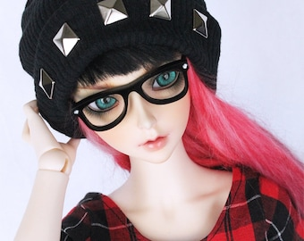 BJD clothes SD Black studded slouchy beanie MonstroDesigns