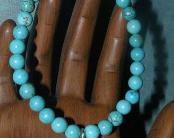 Buddha Charm Magnesite Turquoise Unisex Bracelet