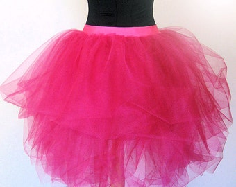 Luxurious Hot Pink Adult Tulle Tutu SKIRT~ 80's Prom Outfit~ Party Outfit- Adult Layered Tutu~ XS Small Medium Large XL 1X 2X 3X~ 80s Cruise