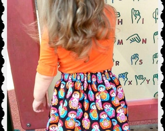 Girls russian Doll skirt Nesting doll skirt 2t 3t 4t 4/5 6/6x 7/8 10/12 Ready to Ship