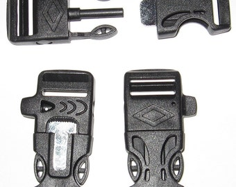"""3/4"""" Fire Starter Whistle Buckles 2-20 count"""