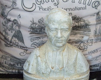 Vintage Pope Pius XI Bust Bookend