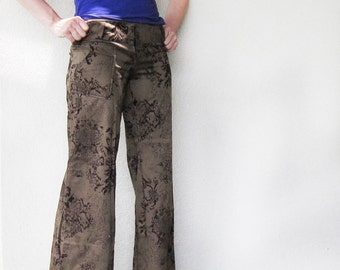 ON SALE - Velvety Boot Cut Pants - OOAK, Low Rise