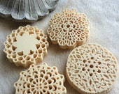 Mini Paper Doilies...100 Piece Set of Very Cute and Adorable Mini Paper Doilies Scrapbook Embellishments