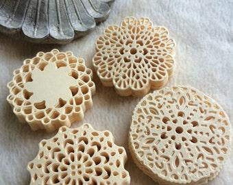 Mini Paper Doilies...100 Piece Set of Very Cute and Adorable Mini Paper Doilies Scrapbook Embellishments
