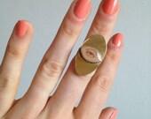 Oval Lover's Eye Ring