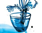 Blue Vase Unframed Archival Giclee Art Print