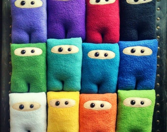 Set of 12 Ninja Nubbins - Multicolor