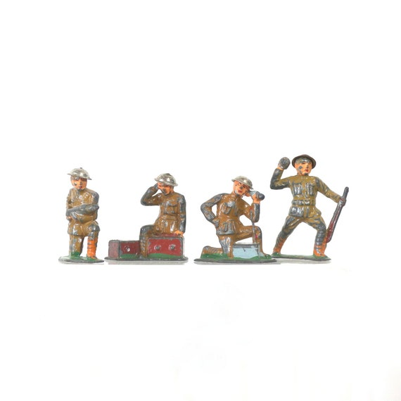 Toy Soldiers For Boys : S toy army soldier set by barclay vintage lead