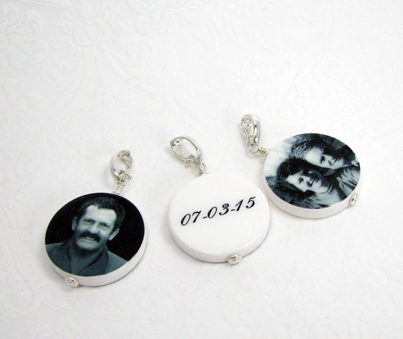 Round Photo Pendants - 3 Medium Handmade Heirloom Quality Photo Tiles - P16x3