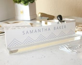 """Personalized Desk Nameplate """"Samantha"""" - Custom Name Plate Sign Decor - Office Accessories - Modern Office Supplies"""