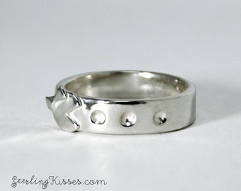 Ms. PacMan Ring Sterling Silver