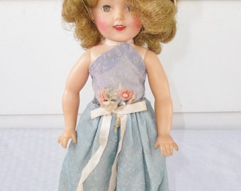 50s 60s Vintage Vinyl Shirley Temple Doll by Ideal 12 Inch