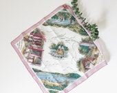 vintage travel souvenir handkerchief | new zealand