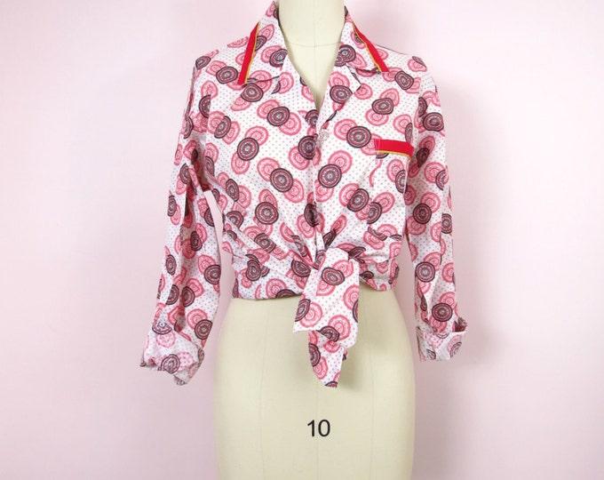 Vintage Pajama Top   1970s JcPenney Men's Pajama Top Size M/L   Men's PJs   Men's Shirt