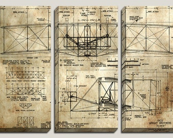 Medical blueprint canvas art da vinci reconstruction as seen in gq 1902 wright brothers flyer blueprint canvas art malvernweather Images
