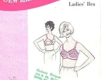Sew Knit N Stretch 230 1970s Ladies BRA Pattern Womens Vintage Lingerie Sewing Pattern Size 38 A B C Cup UNCUT