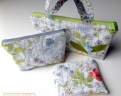 RTS OOAK Liberty London Zippered Pouch Set