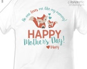Mother's Day bodysuit - personalized first mothers day gift from baby (or any age!) fox theme