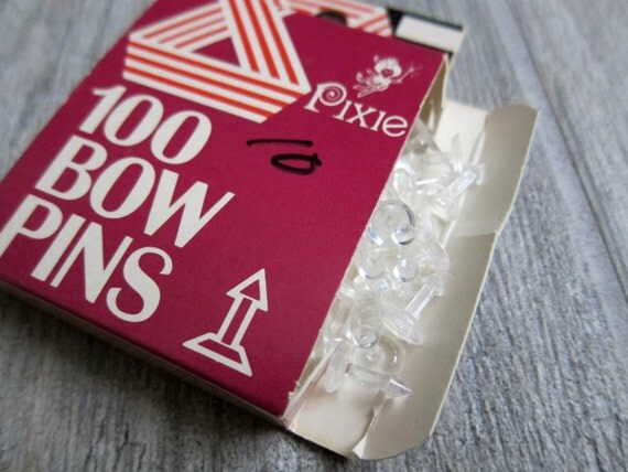 Pixie Bow Pins Box Of 100 Pixie Bow Pins For Pixie Bow Maker