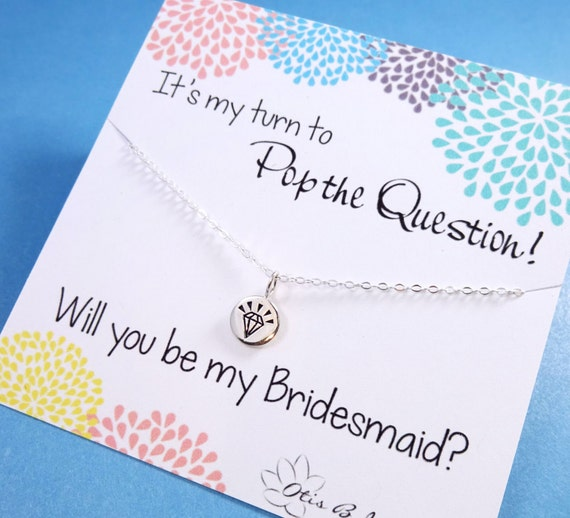 Be My Bridesmaid Gift Asking Bridesmaids Cards With Necklace