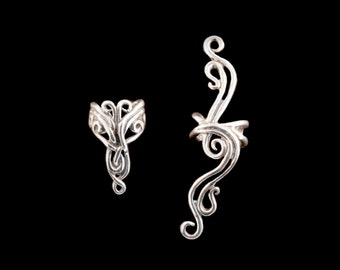 EAR CUFF SPECIAL Abstract Ear Cuff Combo - Swirl Ear Cuff - Swirl Jewelry - Wave Jewelry - Buy 2 Get 1 Ear Cuff Free - Bridal Jewelry