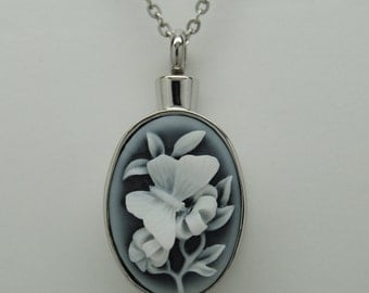 Butterfly Cremation Jewelry Engravable Urn Necklace Pendant For Person or Pet