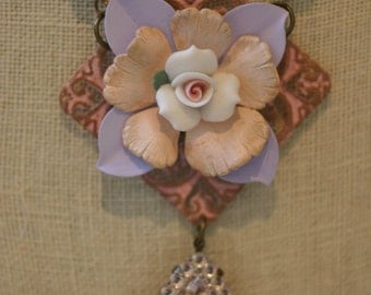 "Shabby Chic ""Violet"" Necklace"