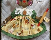 """Primitive Raggedy NEW 2015 """"BaKeD WiTh LoVe"""" Gingerbread Collection! 14"""" doll"""