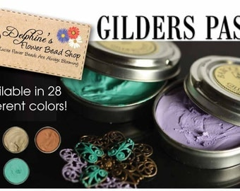 28 Tins Set Baroque Art GILDERS PASTE Rub On Metallic Wax for Metal Glass Resin Mixed Colors Wholesale Gilder's Paste