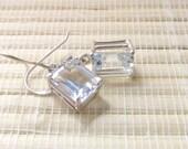 White Topaz Earrings Sterling Silver On Sale