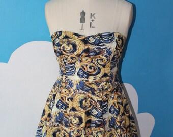 doctor who exploding tardis - Van Gogh - sweet heart dress