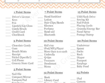 What's In Your Purse - BABY Shower Game Printable