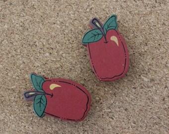 Apple magnets (set of 2)