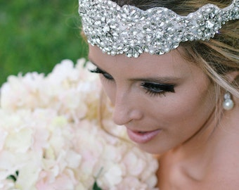 Wedding Headband, Rhinestone Wedding Headpiece